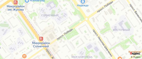 Улица 25 Съезда КПСС на карте Старого Оскола с номерами домов
