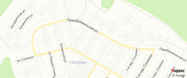 5-й Преображенский переулок на карте Старого Оскола с номерами домов