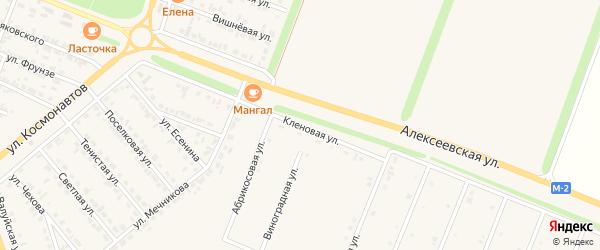 Кленовая улица на карте Нового Оскола с номерами домов