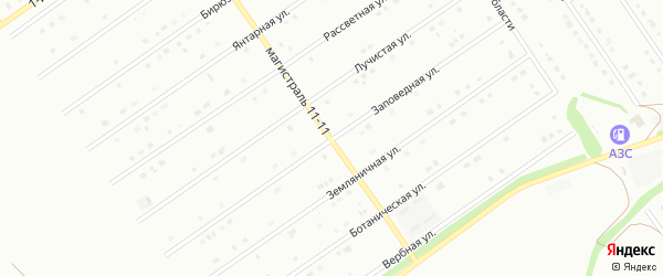 Заповедная улица на карте Старого Оскола с номерами домов