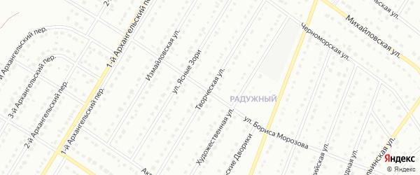 Творческая улица на карте Старого Оскола с номерами домов