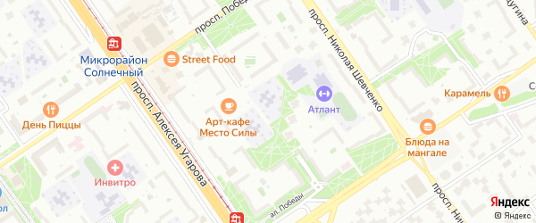 Микрорайон Королева на карте Старого Оскола с номерами домов