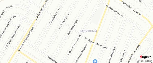 Улица Бориса Морозова на карте Старого Оскола с номерами домов