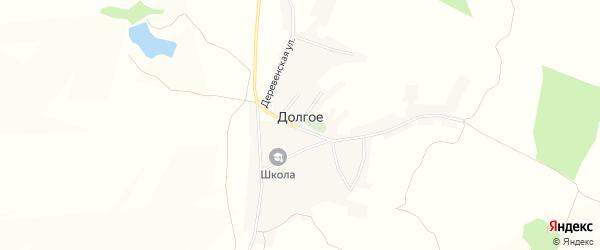 Карта Долгого села в Белгородской области с улицами и номерами домов