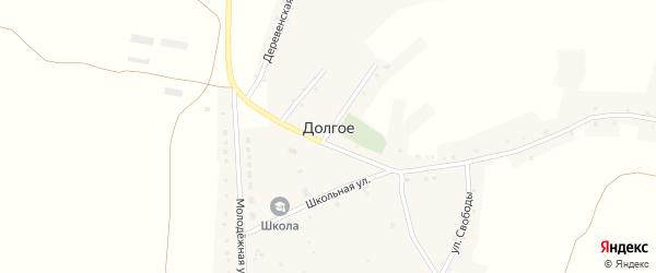 Школьная улица на карте Долгого села с номерами домов