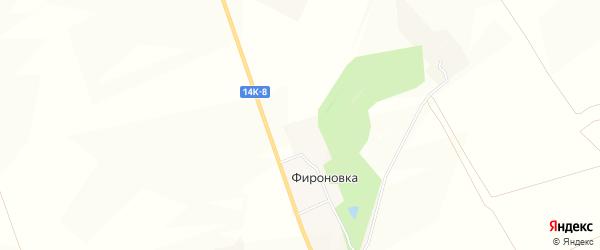 Карта хутора Фироновки в Белгородской области с улицами и номерами домов