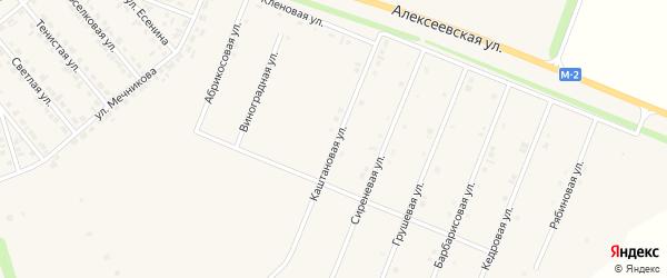 Каштановая улица на карте Нового Оскола с номерами домов