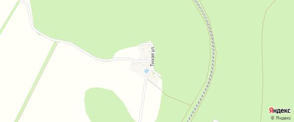 Тихий переулок на карте поселка Набокино с номерами домов