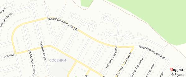 Преображенская улица на карте Старого Оскола с номерами домов