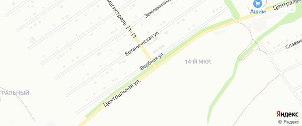 Вербная улица на карте Старого Оскола с номерами домов