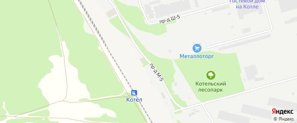 Площадка Складская проезд М-5 на карте станции Котла промузла с номерами домов
