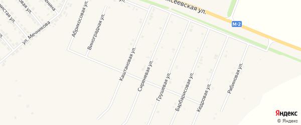 Сиреневая улица на карте Нового Оскола с номерами домов