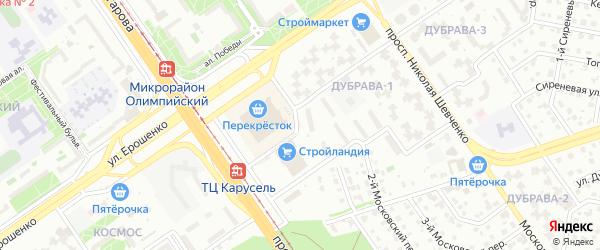 Микрорайон Дубрава квартал 1 на карте Старого Оскола с номерами домов