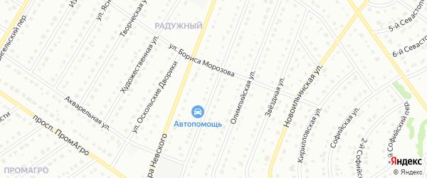 Крымская улица на карте Старого Оскола с номерами домов