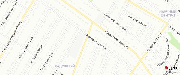 Черноморская улица на карте Старого Оскола с номерами домов