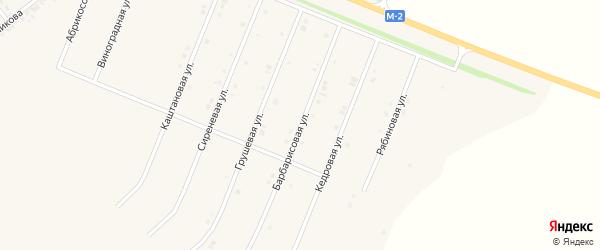 Барбарисовая улица на карте Нового Оскола с номерами домов