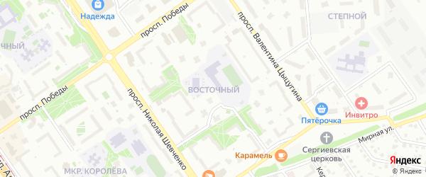Восточный микрорайон на карте Старого Оскола с номерами домов