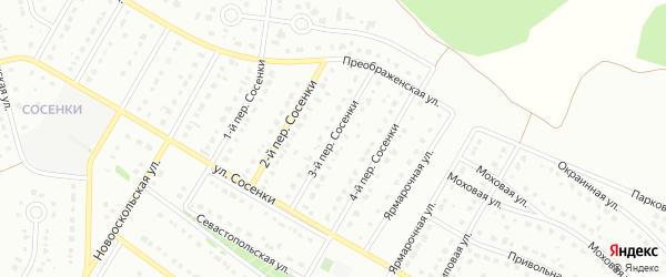 Переулок 3-й Сосенки на карте Старого Оскола с номерами домов