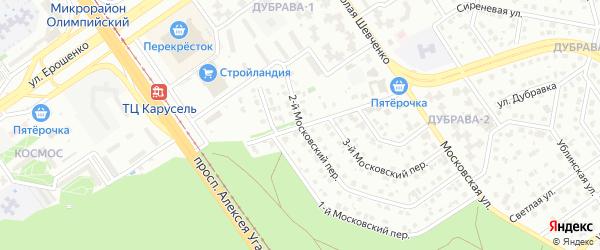 Проезд Сталеваров на карте Старого Оскола с номерами домов