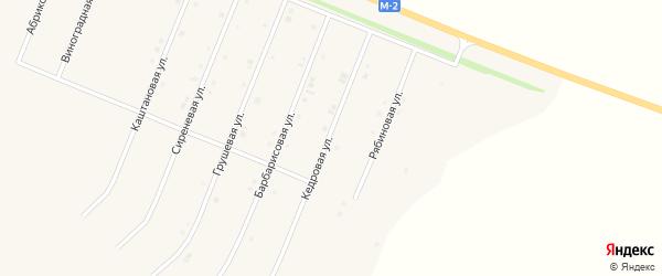 Кедровая улица на карте Нового Оскола с номерами домов