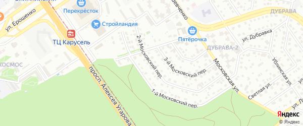 2-й Московский переулок на карте Старого Оскола с номерами домов