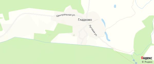 Карта села Гладково в Белгородской области с улицами и номерами домов
