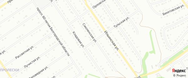 Смоленская улица на карте Старого Оскола с номерами домов