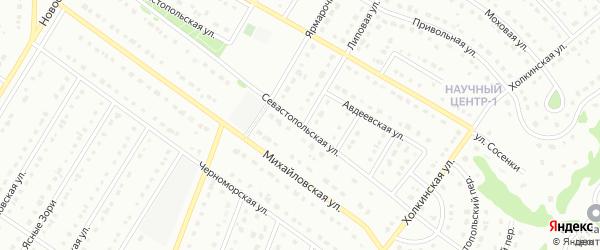 Севастопольская улица на карте Старого Оскола с номерами домов