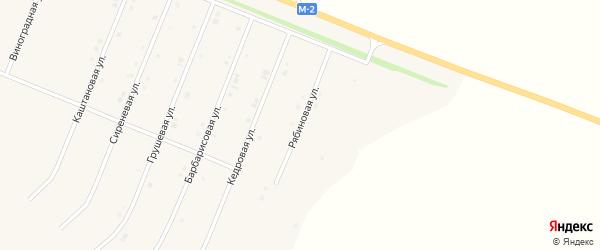 Рябиновая улица на карте Нового Оскола с номерами домов