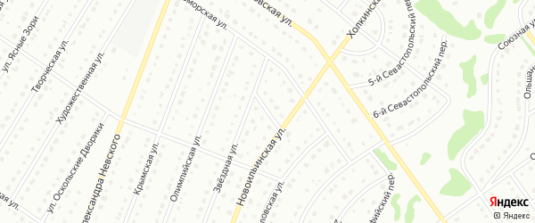 Звездный переулок на карте Старого Оскола с номерами домов