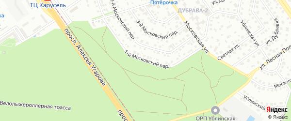 1-й Московский переулок на карте Старого Оскола с номерами домов