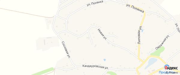 Солнечная улица на карте Новокладового села с номерами домов