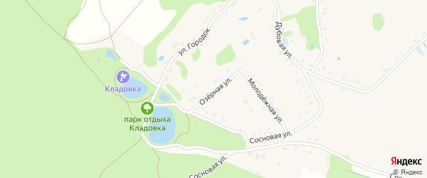 Озерная улица на карте Новокладового села с номерами домов
