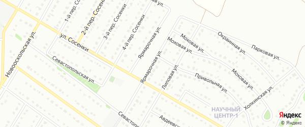 Ярмарочная улица на карте Старого Оскола с номерами домов