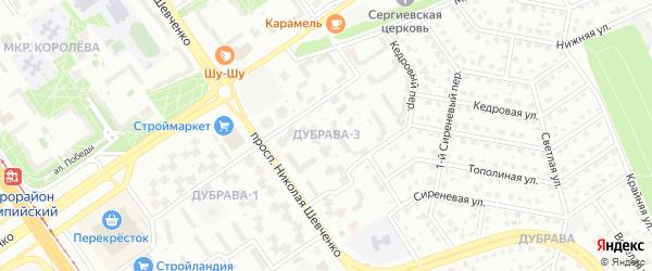 Микрорайон Дубрава квартал 3 на карте Старого Оскола с номерами домов