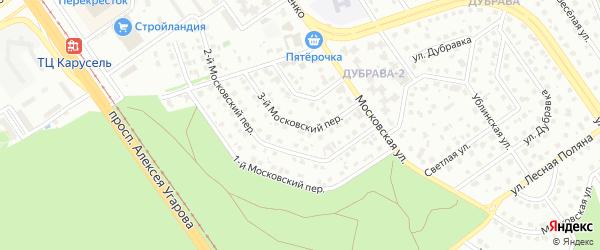 3-й Московский переулок на карте Старого Оскола с номерами домов