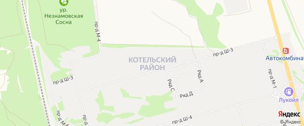ГСК Котел на карте Старого Оскола с номерами домов