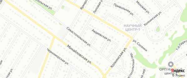1-й Севастопольский переулок на карте Старого Оскола с номерами домов