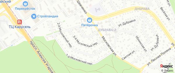 4-й Московский переулок на карте Старого Оскола с номерами домов