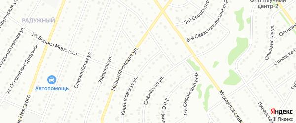 Малая Кириловская улица на карте Старого Оскола с номерами домов