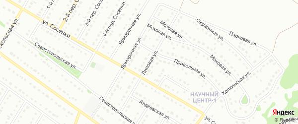 Липовая улица на карте Старого Оскола с номерами домов