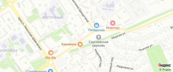 Улица Сергия Радонежского на карте Старого Оскола с номерами домов