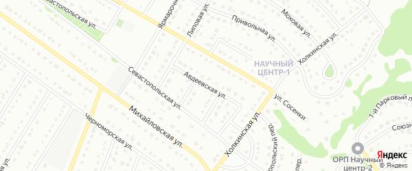 Авдеевская улица на карте Старого Оскола с номерами домов