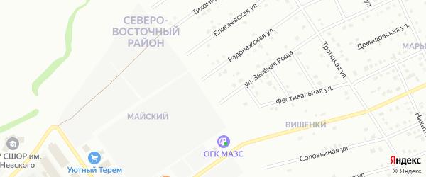 Новостроевская улица на карте Старого Оскола с номерами домов