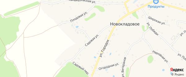 Садовая улица на карте Новокладового села с номерами домов