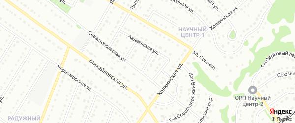 2-й Севастопольский переулок на карте Старого Оскола с номерами домов