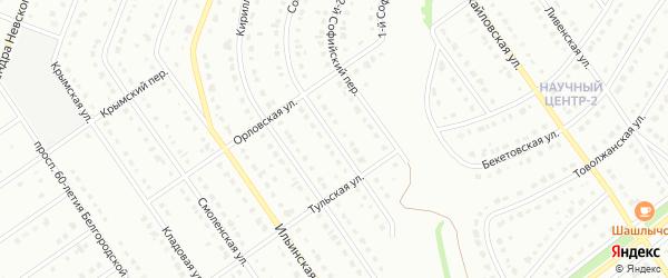 Софийская улица на карте Старого Оскола с номерами домов