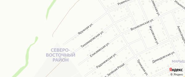 Тихомировская улица на карте Старого Оскола с номерами домов