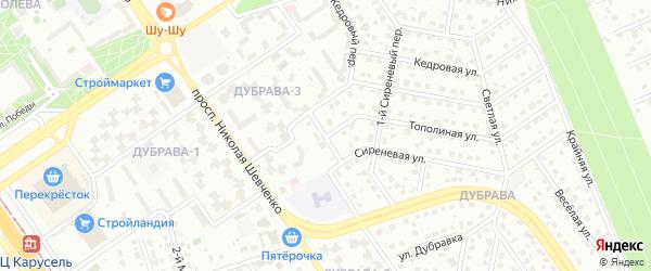Сиреневый переулок на карте Старого Оскола с номерами домов