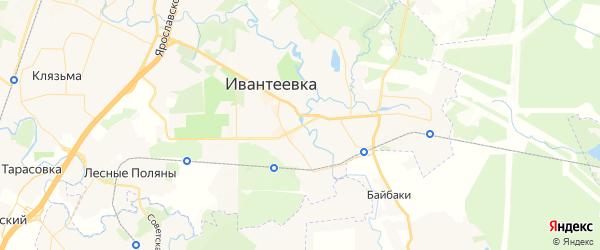 Карта Ивантеевки с районами, улицами и номерами домов
